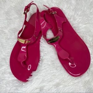 Michael Kors Plate pink Jelly Thong Sandals